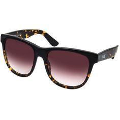 Aquaswiss Aquaswiss Unisex Omi Sunglasses (405115901) ($60) ❤ liked on Polyvore featuring accessories, eyewear, sunglasses, havana, lens glasses, unisex glasses, round lens sunglasses, logo lens sunglasses and wide sunglasses