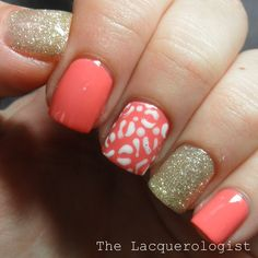 The Lacquerologist: Simple Summer Manicure featuring Zoya, OPI  Leopard!