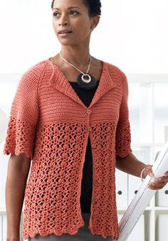 Silk Bamboo - Crochet Cardigan