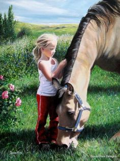 Cute little girl with her horse