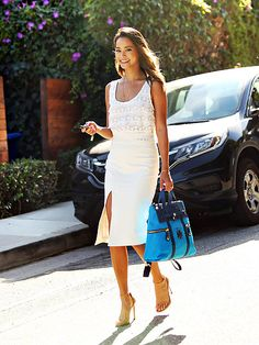 Star Tracks: Wednesday, August 12, 2015 | BRIGHT WHITES | Jamie Chung is getting a head start on her bridal style, rocking an all-white outfit while out in Los Angeles on Tuesday.