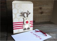 Ridiculously Cute Reindeer made with Stampin' Up Punches - video tutorial