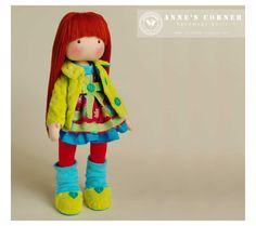 Susie  hand made rag doll  by AnneCorner by AnneCorner on Etsy