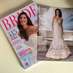 ***Spotted*** #Cosmopolitan Bride Summer 2013 Roz la Kelin bridal