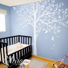 Large+WHITE+Family+Tree+Wall+Decal+Tree+wall+by+theOliviaDesign