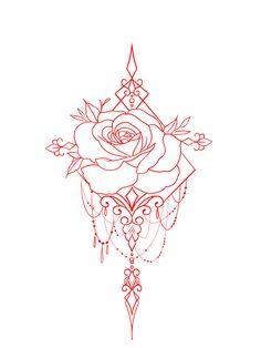 Cute Tattoos, Flower Tattoos, Body Art Tattoos, Sleeve Tattoos, Tattoo Outline Drawing, Tattoo Design Drawings, Henna Designs, Tattoo Designs, Single Rose Tattoos