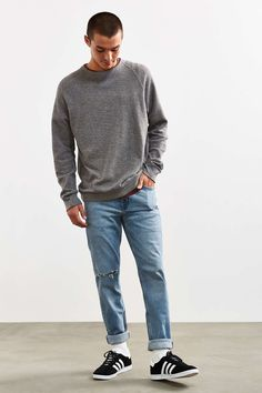 BDG Destructed Light Stonewash Skinny Jean - Urban Outfitters