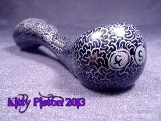 Real working maze pipe hand etched by Kitty Piston