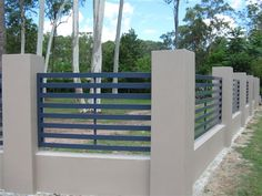 Fence Gate, Fencing, Metal Fences, Fence Wall Design, Horizontal Fence, One Story Homes, Modern Fence, Fenced In Yard, Brisbane