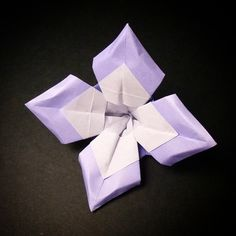 February 23rd 2015 Origami flower I made today. Inspired by @tadashiorigami #origami #flower #paper #folding #lilac #purple #flor #rio #diy #craft #54