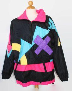 Obermeyer Neon Black Womens Vintage Coat Jacket Sz 12 Retro Ski #Obermeyer #BasicJacket