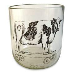 Rolling cow glasses. These would be fun, yes?