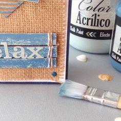 Nuevo proyecto para @basiccrea2  un mensaje con unas tonalidades que no puedo dejar de utilizar!!! Nos leemos en el blog! #comomegustalateladesaco #burlap #cardmaking #summercolours #bonapint #togalesite #papercraft by paperstrencats