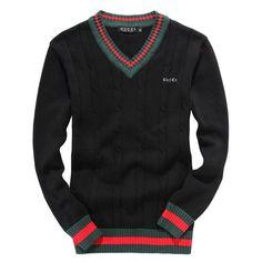 Gucci Sweater Men Fashion Casual Cotton Black White Size S black Authentic Gucci Sweater Mens, Men Sweater, Sweater Cardigan, Gucci Sweatshirt, Style Casual, Casual Wear, Look Fashion, Mens Fashion, Fashion Styles