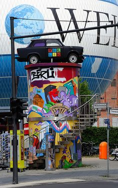 "Colourful Berlin and ""the good old Trabi""  (former East German auto maker) - Germany"