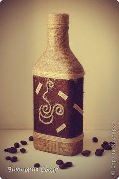 Декор предметов Декупаж Время кофе  Бутылки стеклянные