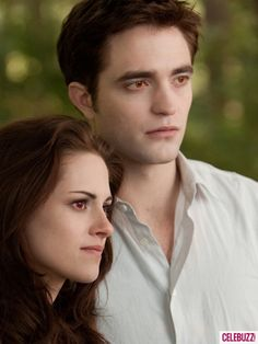 The Twilight Saga: Breaking Dawn- Part 2, Edward and Bella. Love the difference in their eyes.
