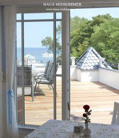 Blick aus der Ferienwohnung zur See.