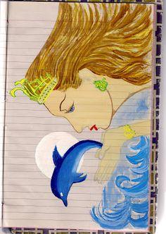 Sea Mermaid - Water Colour Painting