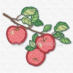 Free Embroidery Design: Apples