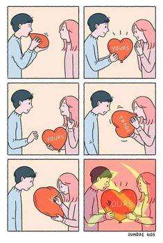 Comrades in love is part of Memes - More memes, funny videos and pics on Sad Comics, Comics Love, Cute Comics, Funny Comics, Cute Couple Comics, Couples Comics, Couple Cartoon, Funny Images, Best Funny Pictures