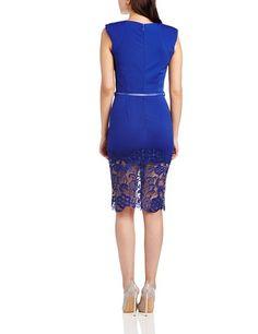 Little Mistress Damen Schlauch Kleid Gr. 34, blau: Amazon.de: Bekleidung