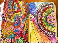 Summer Art Journals; I'm always amazed how talented people are...