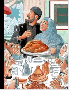 New Yorker cover Art Spiegelman winked at Norman Rockwell's 'Freedom from Want' to comment on anti-Muslim violence New Yorker Covers, The New Yorker, Freedom From Want, Nation Magazine, Art Spiegelman, Norman Rockwell, Science Art, Winter Holidays, Cover Art