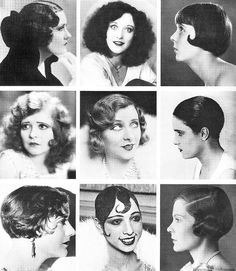 ...hairstyle, known simply as 3/4 'the bob', would be at the center of this great debate.  First introduced during the Great War, the bob haircut would eventually cause a revolution in the way women would wear their hair 3/4 forevermore.  Gloria Swanson, Joan Crawford, Jessie Matthews, Clara Bow, Yvonne Printemps, Pauline Stark, Constance Talmadge, Josephine Baker, Madame Lucien Lelong