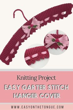 How to knit Pretty Covered Coat Hangers, free pattern Knitting Project – knit east garter stitch hanger covers Knitting Patterns Free, Free Knitting, Free Pattern, Crochet Patterns, Knitting Stitches, Easy Knitting Projects, Diy Craft Projects, Knitting Ideas, Craft Ideas