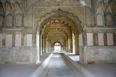 The Diwan-i-Khas (or Hall of Private Audiences) in the Red Fort of Delhi, 1648, India