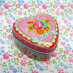 oilily - soap tin. I actually don't use the soap in the tin but I have several of these on my bathroom counter because they're pretty.