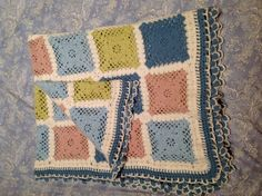 Manta de ganchillo o crochet, que hice para mi hija cristina