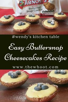 Wendy's Mini Butternut Snap Cookie Cheesecakes Wendys Mini Butternut Snap Cookie Cheesecakes Baking Recipes, Cookie Recipes, Dessert Recipes, Xmas Recipes, Bite Size Desserts, Mini Desserts, Afternoon Tea Recipes, Easy Cheesecake Recipes, Cheesecake Cookies
