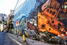 Grafitti Valparaiso Chile Streetart