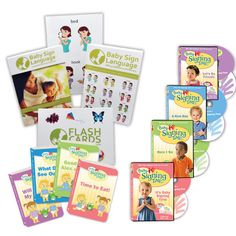 Our Most Complete Kit. The Ultra Baby Sign Language Kit is our most comprehensive kit and includes everything you need to teach your baby to sign. The kit includes:  •Baby Signing Time! DVDs Vol. 1 - 4 (4 DVDs & 4 CDs) - baby learns new signs while enjoying Rachel Coleman's award-winning songs. DVDs and bonus CDs are included for fun at home and on the run. ↓ Learn More •Baby Signing Time! Board Books Vol. 1 - 4 - enjoy the benefits of reading plus signing while keeping baby ...