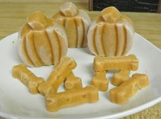 Three-ingredient pumpkin dog treat recipe perfect for fall and cooler seasons. Spoil your dog a little with a DIY homemade treat made with love! #dogtreat #diy #dogs