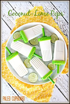 Coconut-Lime Popsicle Recipe - www.PaleoCupboard.com