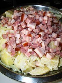 W mojej kuchni: Ziemniaczki zapiekane z mięsnymi kulkami wg Aleex Hawaiian Pizza, Cabbage, Vegetables, Food, Veggies, Essen, Cabbages, Veggie Food, Vegetable Recipes