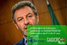 Governo antecipa exames de matemática do 6º e 9º ano para véspera da Greve Geral