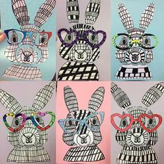 Fun Easter Bunny Craft Idea - Teach Starter art for kids grade Fun Easter Bunny Craft Idea Bunny Drawing, Bunny Art, Drawing For Kids, Art For Kids, Drawing Art, Kids Fun, Drawing Ideas, Rabbit Crafts, Bunny Crafts