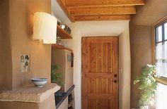 straw bale house interior