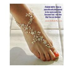 I found 'Barefoot Bride Crystal Ankle Wrap' on Wish, check it out!