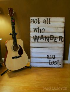Rustic - Not All Who Wander Are Lost - Tolkien - Wood Sign - Cottage - Boho - Gypsy - Teen Room - Industrial Wood Pallet Signs, Pallet Art, Wood Pallets, Wooden Signs, Wooden Letters, Pallet Crafts, Wood Crafts, My New Room, My Room