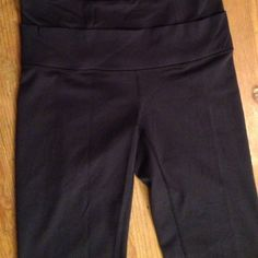 Navy Bootcut lulu lemon Navy. Double band around the hip. Inside tag still attached. Worn once!! lululemon athletica Pants Leggings