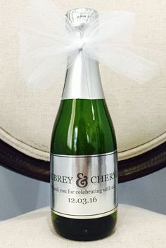 Champagne Favors, Custom Labels, Custom Wedding Champagne Labels, Wedding Favors, Custom Champagne L Champagne Wedding Favors, Mini Champagne Bottles, Champagne Label, Wedding Shower Favors, Wedding Tags, Wedding Labels, Mini Bottles, Wedding Ideas, Personalized Wedding Favors