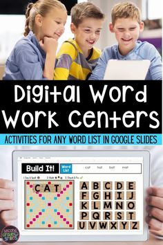 Missing your hands-on word work center? This digital work word center set includes twenty interactive word work activities in Google Slides with moveable letter pieces and visual direction cues. Use them again and again with any spelling or high-frequency word list. Just click to type in your words and assign in Google Classroom. Word Work Games, Word Work Centers, Word Work Activities, Learning Activities, Teaching First Grade, Teaching Math, Activity Centers, Literacy Centers, Word Cat