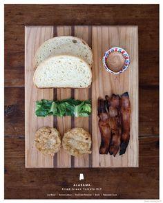 Alabama: Fried Green Tomato BLT  Sandwich served: October 5, 2013