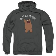 We Bare Bears Internet Famous Adult Charcoal Hoodie