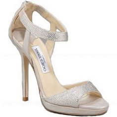 Jimmy Choo Shimmer Suede Ankle Wrap Sandals $200 THEY MUST BE ON SALE